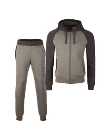 EA7 Emporio Armani Mens Grey Two Tone Tracksuit