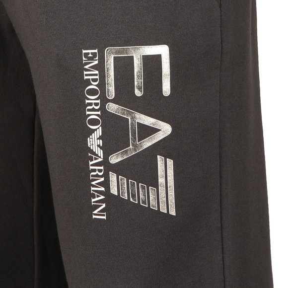 EA7 Emporio Armani Mens Blue Metallic Logo Tracksuit main image