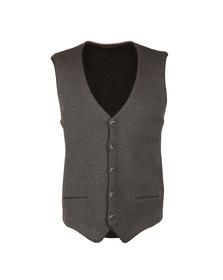 Remus Mens Grey Knitted Waistcoat