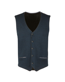 Remus Mens Blue Knitted Waistcoat