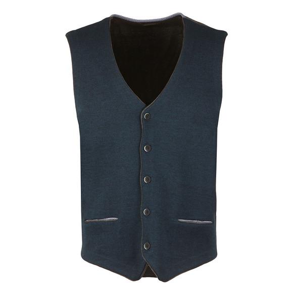 Remus Mens Blue Knitted Waistcoat