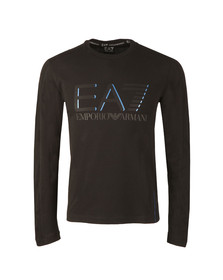 EA7 Emporio Armani Mens Black Large Logo Long Sleeve T Shirt