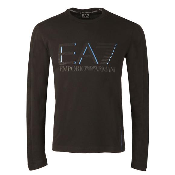 EA7 Emporio Armani Mens Black Large Logo Long Sleeve T Shirt main image