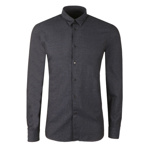 J.Lindeberg Mens Blue Daniel CBU Cotton Mouline Shirt main image