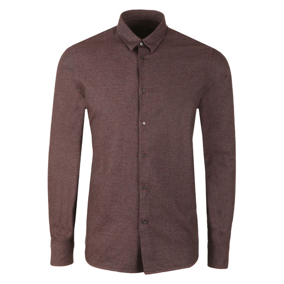 J.Lindeberg Mens Red Daniel CBU Cotton Mouline Shirt main image