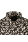 Scotch & Soda Mens Black Patterned Long Sleeve Shirt