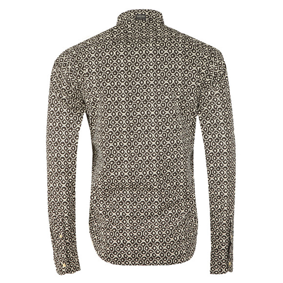Scotch & Soda Mens Black Patterned Long Sleeve Shirt main image