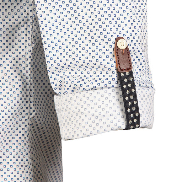 Scotch & Soda Mens White Classic Shirt With Pochet main image