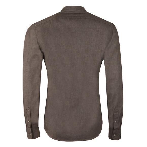 Scotch & Soda Mens Grey Collarless L/S Shirt main image