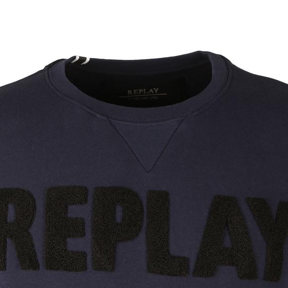 Replay Mens Blue Logo Sweat main image
