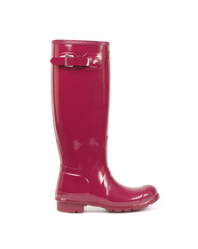 Hunter Womens Purple Hunter Original Tall Gloss Wellington