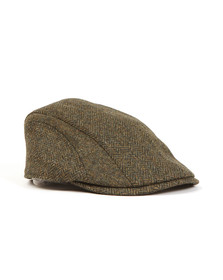Barbour Lifestyle Mens Green Herringbone Tweed Cap