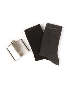 Boss Mens Multicoloured Flask & Sock Gift Set