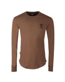 Gym king Mens Brown Long Sleeve Undergarment Tee