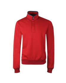 Paul & Shark Mens Red Half Zip Sweat
