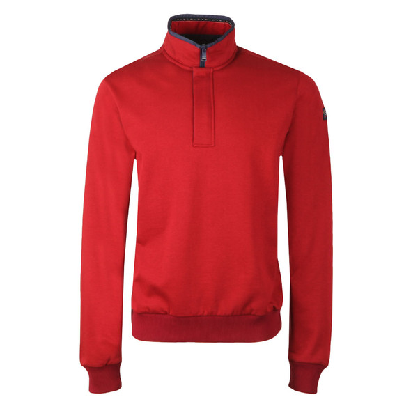 Paul & Shark Mens Red Half Zip Sweat main image