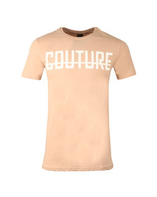 Fresh Couture Mens Brown Large Logo T Shirt