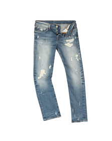 True Religion Mens Blue Rocco Relaxed Skinny Jean