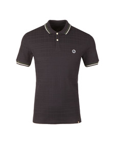 Pretty Green Mens Blue S/S Tipped Polo
