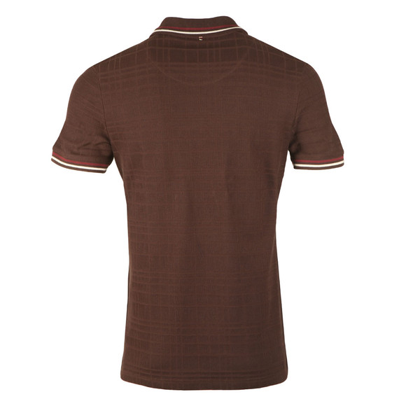 Pretty Green Mens Brown S/S Tipped Polo main image