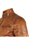 Matchless Mens Brown Osborne Leather Blouson
