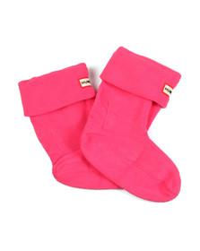 Hunter Unisex Pink Hunter Kids Welly Socks
