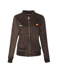 Ellesse Womens Grey Emiliana Suedette Bomber Jacket