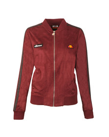Ellesse Womens Red Emiliana Suedette Bomber Jacket