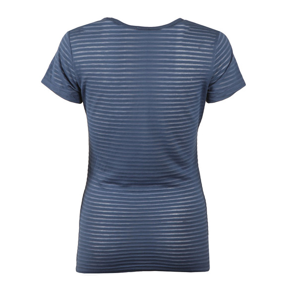 Superdry Womens Blue Glitter Burnout Stripe Entry Tee main image