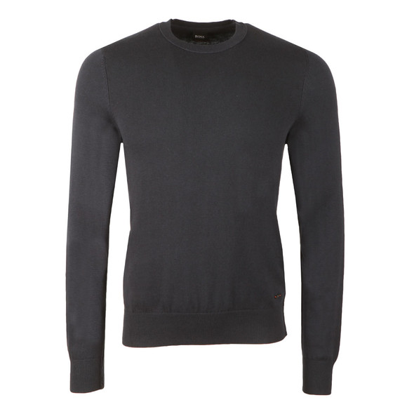 BOSS Bodywear Mens Blue Akroeged Jumper main image