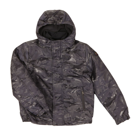Paul & Shark Cadets Boys Grey Woven Shark Camo Jacket main image