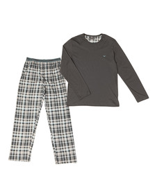 Emporio Armani Mens Grey Pyjama Set