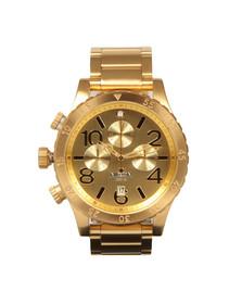 Nixon Mens Gold Nixon 48-20 Chrono Watch