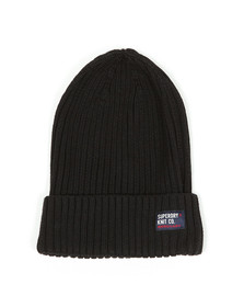Superdry Mens Black Wiseman Beanie