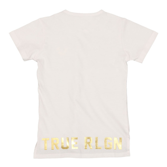 True Religion Boys White Hi Low T Shirt