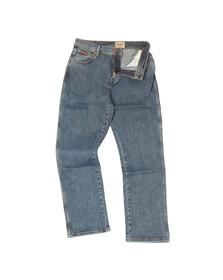 Wrangler Mens Blue Regular Stretch Jean