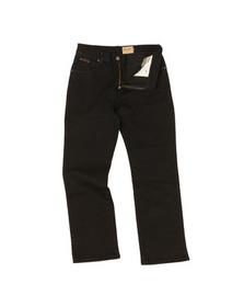 Wrangler Mens Black Wrangler Regular Stretch Jean
