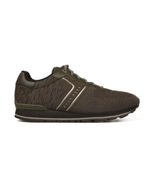 Boss Mens Green Parkour Knit Runner