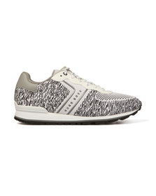 Boss Mens White Parkour Knit Runner