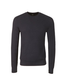 Boss Mens Blue Kelvor Jumper