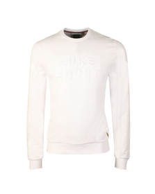 Luke Mens White Lewis Sweat