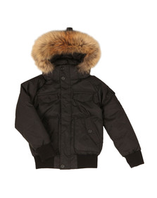 Pyrenex Boys Black Jami Fur Jacket