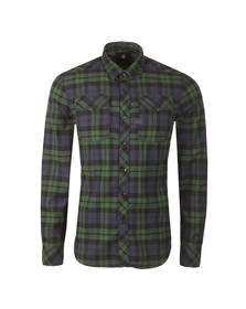G-Star Mens Green L/S Landoh Denim Shirt