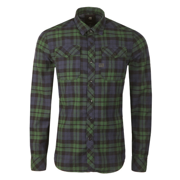 G-Star Mens Green L/S Landoh Denim Shirt main image