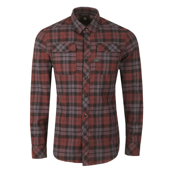 G-Star Mens Red L/S Landoh Denim Shirt main image