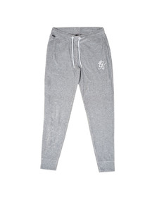 Gym King Mens Grey Daniels Velour Tracksuit Bottoms