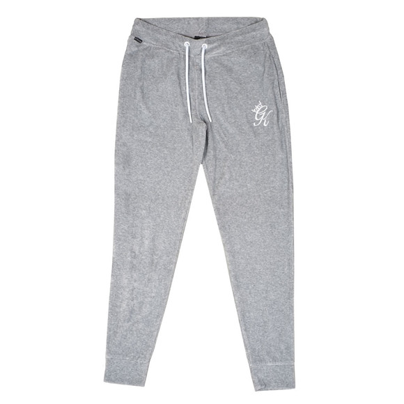 Gym King Mens Grey Daniels Velour Tracksuit Bottoms main image
