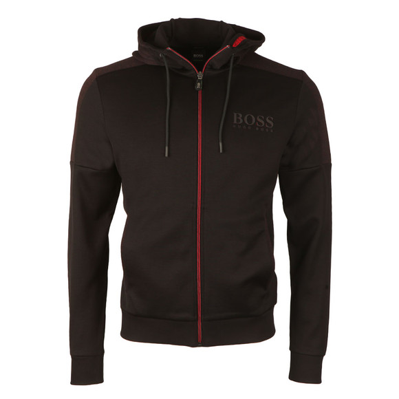 Boss Green Mens Black Saggy Hoody main image