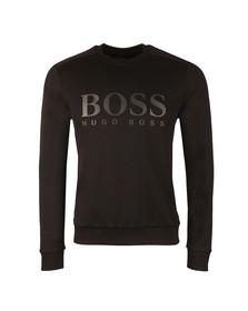 Boss Green Mens Black Salbo Crew Sweatshirt