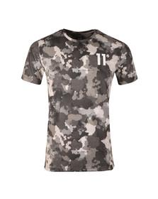 Eleven Degrees Mens Grey Watercolour Camo Sub T Shirt